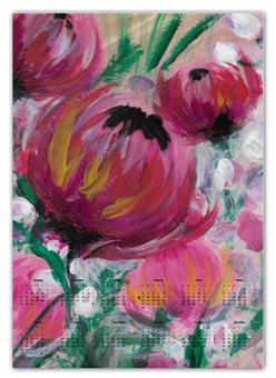 """Календарь А2 """"Полевые цветы"""" - лето, цветы, весна, розовый, подарок"""