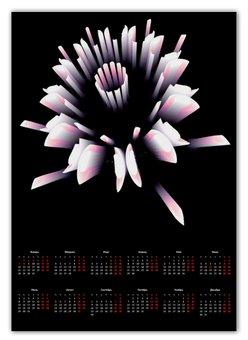 """Календарь А2 """"Розетка"""" - новый год, абстракция, кристалл, digital art, спектр"""