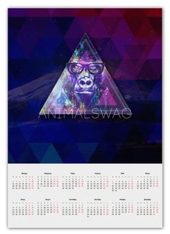 """Календарь А2 """"""""ANIMALSWAG II"""" collection: Gorilla"""" - swag, свэг, gorilla, горила"""
