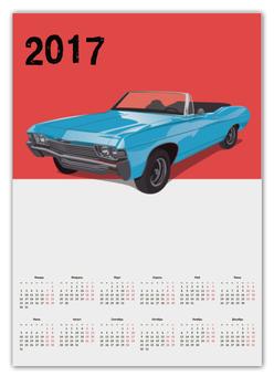 """Календарь А2 """"Ретро авто"""" - стиль, рисунок, автомобиль, ретро авто, старый автомобиль"""