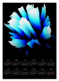 """Календарь А2 """"Ледник"""" - новый год, абстракция, кристалл, лед, digital art"""