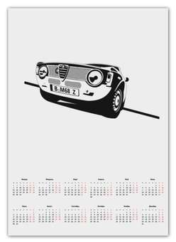 """Календарь А2 """"Retro Alfa Romeo Racing"""" - ретро, авто, машина, гонки, alfa romeo"""