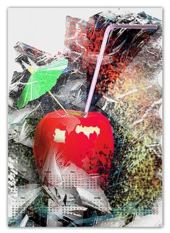 """Календарь А2 """"Яблочный микс"""" - напиток, абстракция, яблоко, фрукт, натюрморт"""