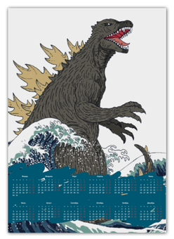 "Календарь А2 ""Годзилла"" - динозавр, годзилла, годзила"