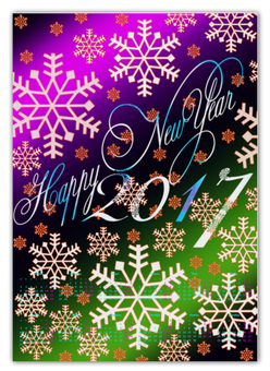 """Календарь А2 """"Снежинки снега"""" - праздник, новый год, снег, снежинки, 2017"""