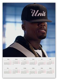 """Календарь А2 """"Календарь 50 Cent"""" - 50 cent, 50cent, g unit, фифти"""