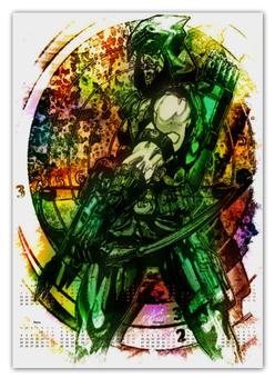 "Календарь А2 ""Pop Art"" - арт, комиксы, dc, зеленая стрела"