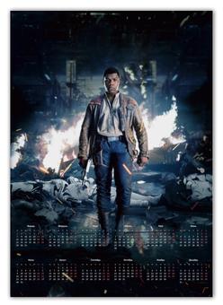 """Календарь А2 """"Звездные войны - Финн"""" - кино, фантастика, star wars, звездные войны, дарт вейдер"""