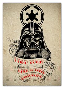 """Календарь А2 """"Star Wars"""" - фантастика, star wars, звездные войны, дарт вейдер"""