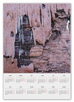 """Календарь А2 """"""""Деревянная"""""""" - крутой, оригинальный, стильный, деревянный, фактурный"""