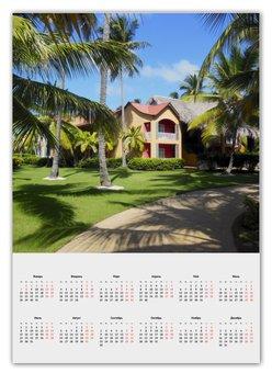 """Календарь А2 """"""""Доминикана. Тропический сад"""""""" - лето, путешествия, travel, пальмы, доминикана"""