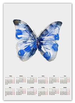 """Календарь А2 """"Бабочка"""" - бабочка, дизайн, иллюстрация, животное, рисунок"""