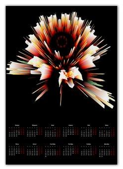 """Календарь А2 """"Разлом"""" - новый год, абстракция, кристалл, digital art, спектр"""