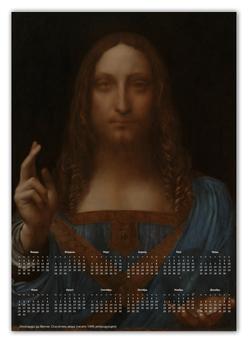 """Календарь А2 """"Спаситель мира Леонардо да Винчи"""" - новый год, картина, живопись, леонардо да винчи, спаситель мира"""
