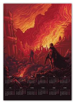"""Календарь А2 """"Звездные войны"""" - кино, фантастика, star wars, звездные войны, дарт вейдер"""