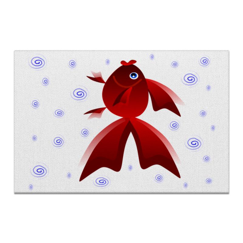 Холст 20х30 Printio Золотая аквариумная рыбка
