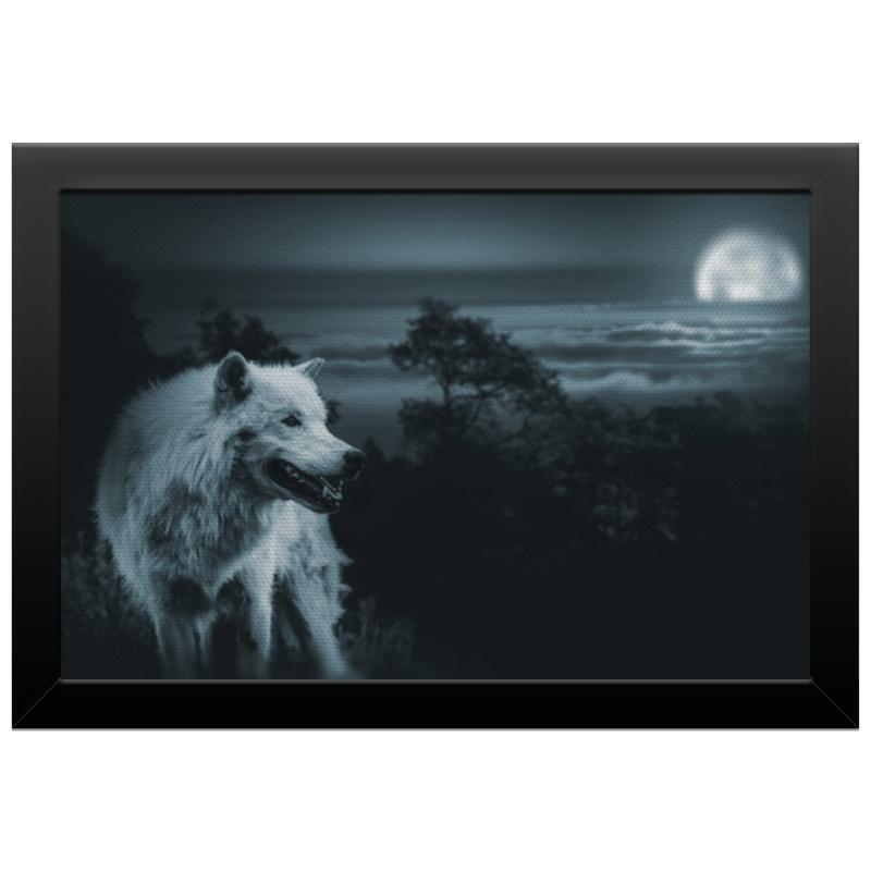 Холст 20х30 Printio Белый волк холст 20х30 printio волк с голубыми глазами