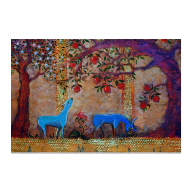 Холст 20х30 Printio Сказочный сад. бусы из сердолика перламутра и граната сад в сентябре