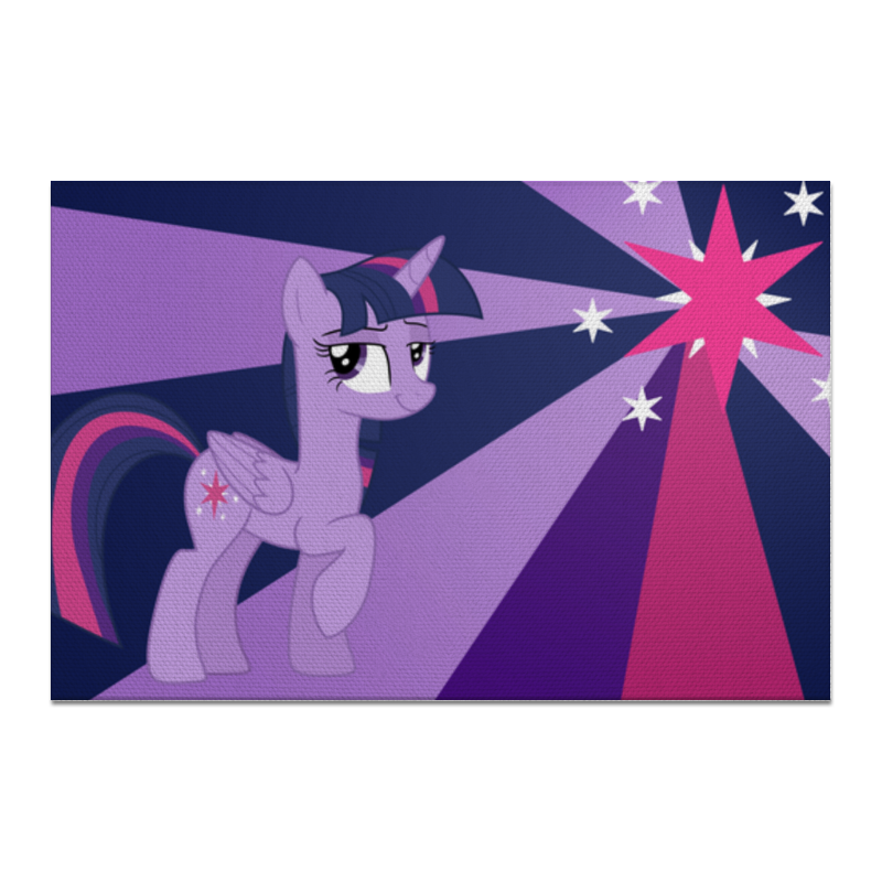 Холст 20х30 Printio Twilight sparkle color line