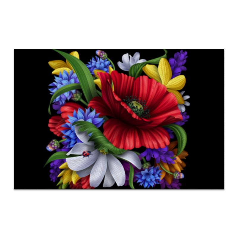 Холст 20х30 Printio Композиция цветов свадебная композиция