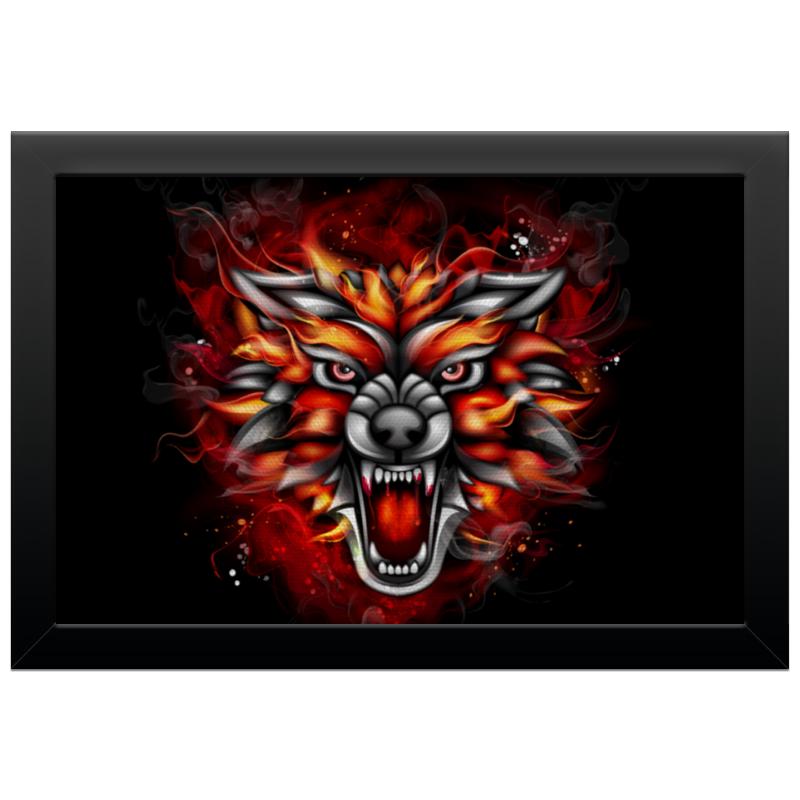 Холст 20х30 Printio Wolf & fire цена