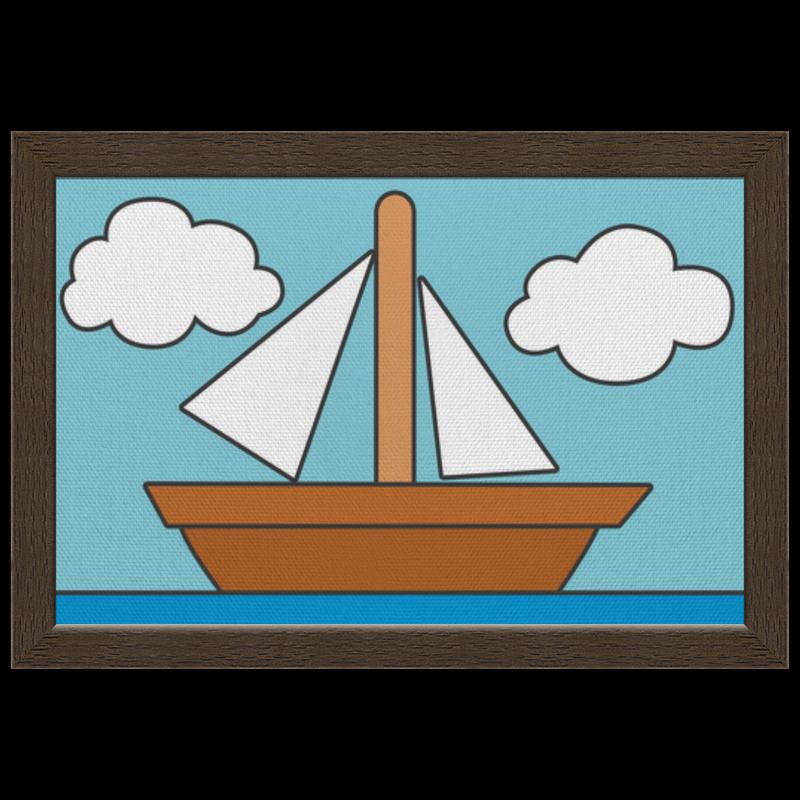 Холст 20х30 Printio Картина кораблика из симпсонов