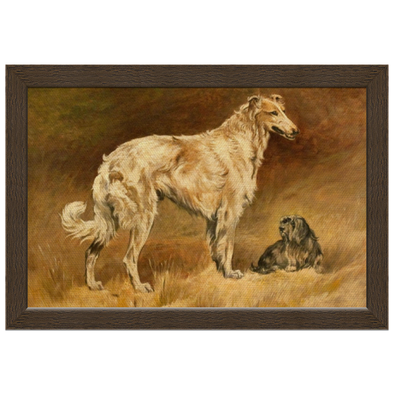 Холст 20х30 Printio 2018 год желтой собаки репродукция ржавый рассвет 500х700мм холст