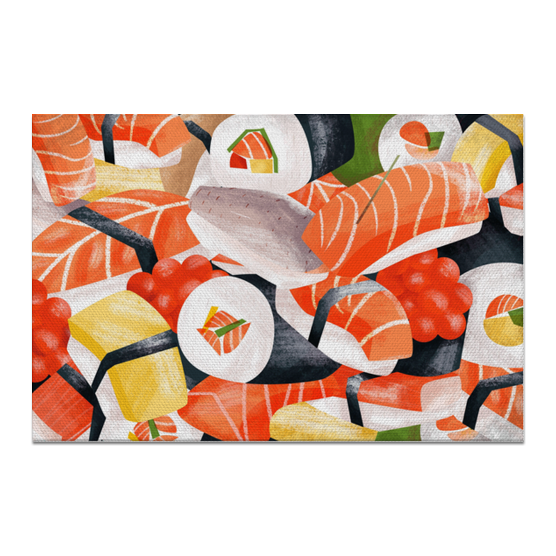 Холст 20х30 Printio Суши роллы цена 2017