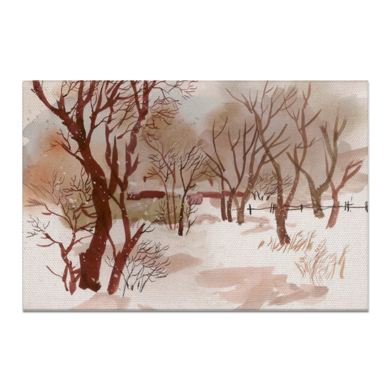 Холст 20х30 Printio Зимний пейзаж чехол для ноутбука 14 printio зимний пейзаж