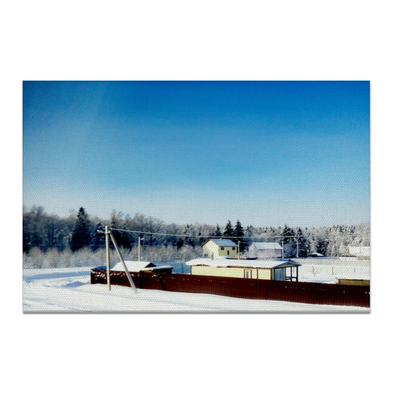 Холст 20х30 Printio Зима. мороз. холст 30x60 printio зима мороз солнце