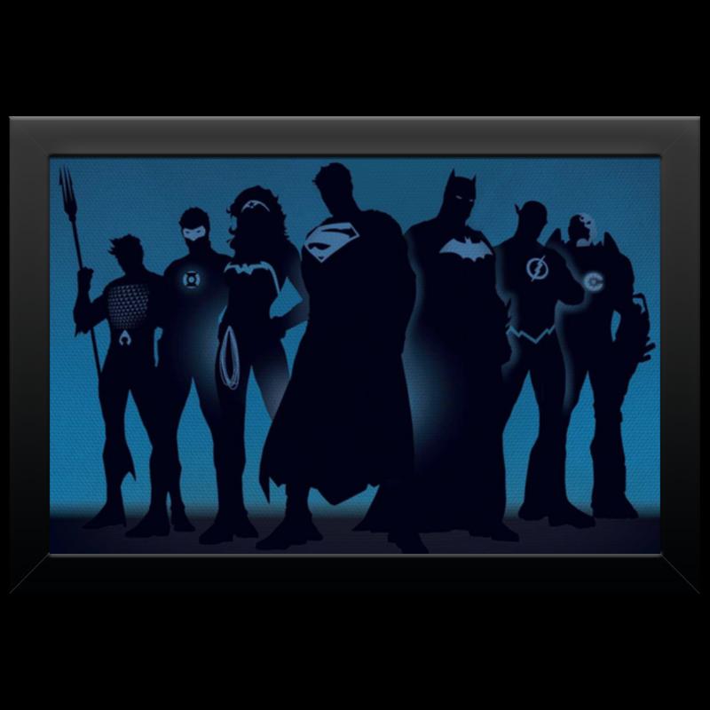 Холст 20х30 Printio Justice league/лига справедливости холст 50x75 printio justice league лига справедливости
