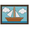 "Холст 20х30 ""Картина кораблика из Симпсонов"" - кораблик, картина, симпсоны, boat, the simpsons"