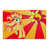 "Холст 20х30 ""Sunset Shimmer Color Line"" - sun, cutiemark, sunset shimmer"