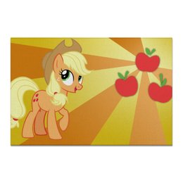 "Холст 20х30 ""AppleJack Color Line"" - magic, fim, applejack, cutiemark, friendship"