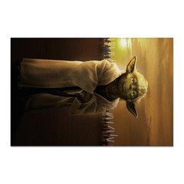 "Холст 20х30 ""Звездные войны - Йода"" - фантастика, star wars, звездные войны, йода, дарт вейдер"