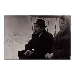 """Холст 20х30 """"Ретро."""" - ретро, фотография, мужчина и женщина, прошлое, черно-белая фотография"""