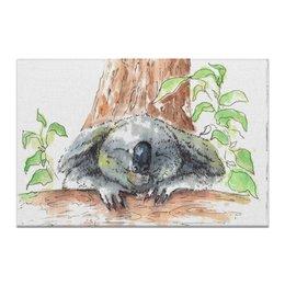 """Холст 20х30 """"Без названия"""" - животные, природа, подарок, уют, коала"""