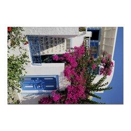 """Холст 20х30 """"""""Греция. Остров Санторини"""""""" - цветы, путешествия, travel, греция, санторини"""