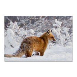 "Холст 20х30 ""Лисица"" - зима, фото, снег, лиса"