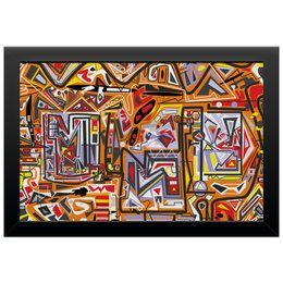 "Холст 20х30 ""Оранжевый дом."" - арт, узор, абстракция, фигуры, текстура"