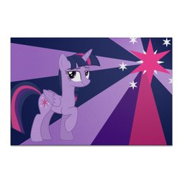 "Холст 20х30 ""Twilight Sparkle Color Line"" - twilight sparkle, cutiemark, princess"