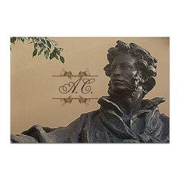 """Холст 20х30 """"Пушкин."""" - поэт, пушкин, писатель, бюст, скульптура"""