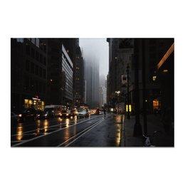 """Холст 20х30 """"цвета здешнего урбана"""" - готика, фото, город, дождь, урбан"""
