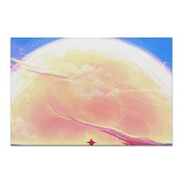 "Холст 20х30 ""Digital"" - sky, небо, мотоцикл, motorcycle, digital art"