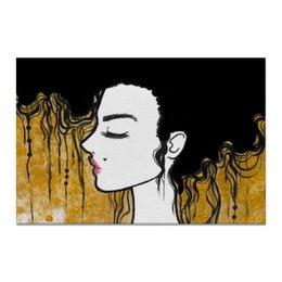 """Холст 20х30 """"Golden"""" - любовь, девушка, золотой, климт"""