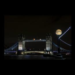 """Холст 20х30 """"Лондон ночью"""" - лондон, фото лондона"""