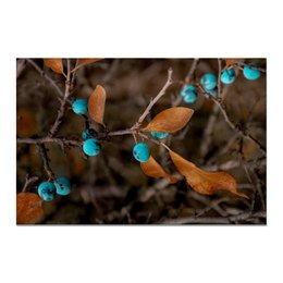 """Холст 20х30 """"Осенние листья"""" - листья, осень, ягоды, рыжий, слива"""