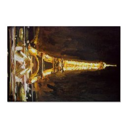 """Холст 20х30 """"Париж"""" - шоколад, париж, paris, эйфелева башня"""