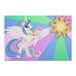 "Холст 20х30 ""Princess Celestia Color Line"" - magic, celestia, friendship, princess"