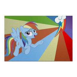 "Холст 20х30 ""Rainbow Dash Color Line"" - rainbow dash, magic, fim, cutiemark, friendship"